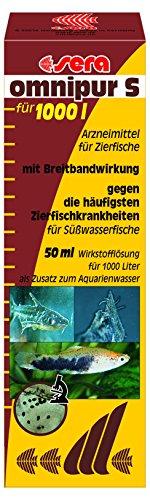 sera omnipur S 50 ml Arzneimittel mit Breitbandwirkung gegen die häufigsten Zierfischkrankheiten im Süßwasser Aquarium