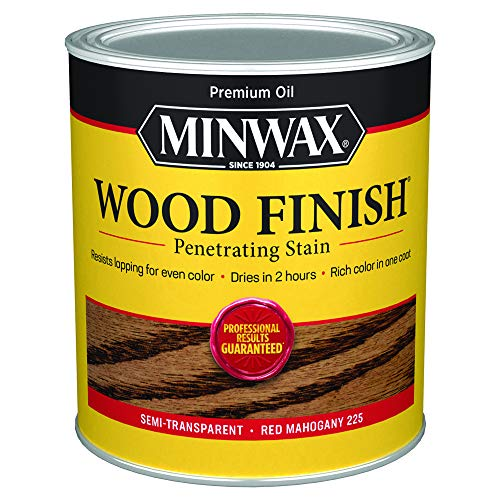 Minwax 70007444 Wood Finish Penetrating Stain, quart, Red Mahogany