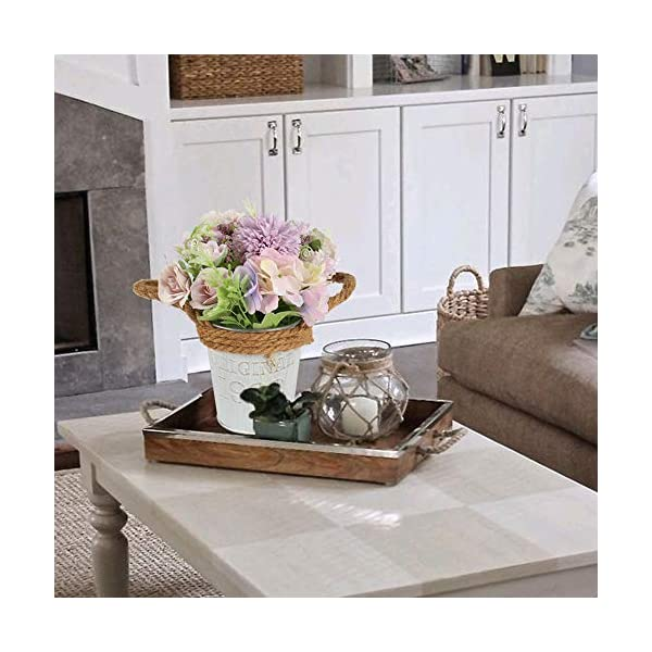 HUAESIN Flores Artificiales Decoracion Jarrones Hortensias Artificiales Decorativas con Maceta Artificial Pequeña para…