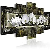 BYSQX 5 Pieces Wall Art Modular DIY Simple and Elegant Orchid Colorful Flowers Home Kitchen Posters Prints Picture Print On Canvas Canvas Print Modular Painting Poster Wall Stickers Mural 200X100CM