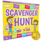 Gotrovo Scavenger Hunt Game for Kids Seek'n'Build Indoor Outdoor Find It Game. Includes 2 Color in bags to Collect your Treasures plus Challenge Cards to Build/Experiment/Get Arty and Creative!