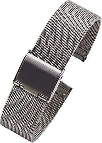 Nueva banda de plata Milanese Loop Acero Inoxidable gdfb de malla correa para reloj 24mm