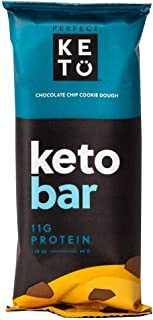 Sponsored Ad - Perfect Keto Bars - The Cleanest Keto Snacks with Collagen and MCT. No Added Sugar, Keto Diet Friendly - 3g...