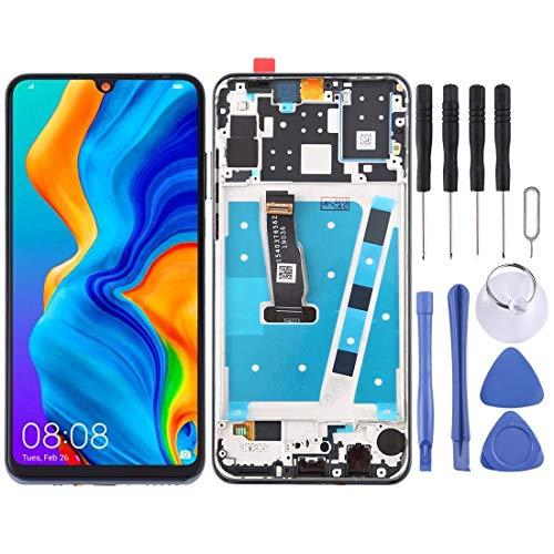 LCD-Bildschirm ersetzen LCD-Bildschirm Ersatz und Digitizer Vollversammlung mit Rahmen, for Huawei P30 Lite/Nova 4e (Color : Black)