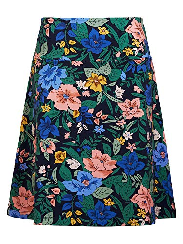 King Louie Damen A-Linie Rock Border Skirt Belize (M, Nigh-Sky Blue)