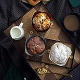 Zhicaikeji Bandeja Decorativa Hierro Forjado Bandeja de Madera Decorativo de la Cocina Mesa de la decoración del hogar Placa del Desayuno para Sala de Estar (Color : Black, Size : 30x20x2.5cm)