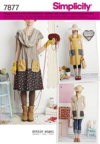Burda Simplicity s7877.a Schnittmuster Kleid/Tunika Papier weiß 21x 15cm