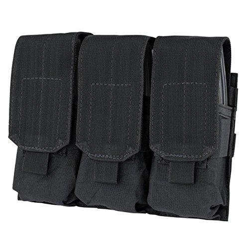 GVN Tactical Triple Mag Pouch, PALS MOLLE AR M4 5.56/.223 Triple Magazine Pouch Mag Holder Tactical Black