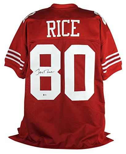 Jerry Rice Authentic Signed Red Pro Style Jersey Autographed BAS Witnessed