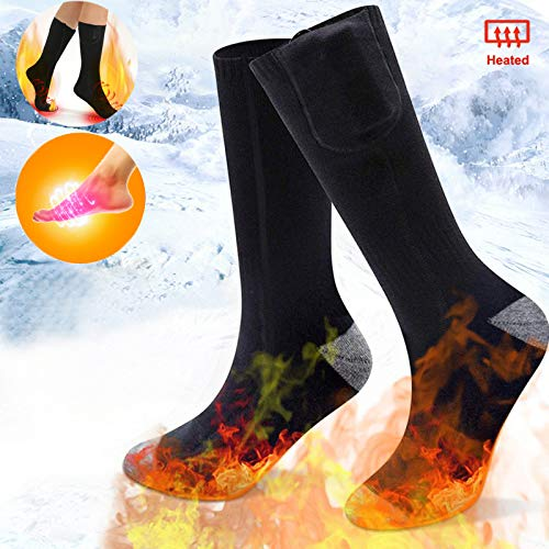 Electric Rechargeable Battery Heated Socks for Men Women,Winter Warm Thermo-Socks Outdoor Sports Ski Heating Sox for Cold Feet Thermal Socks Foot Warmer …