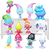 12 pcs Trolls Mini Toy, Trolls Action Figures, Cake Toppers Tall 1.18'-2.76' Trolls themed party supplies, kids birthday cake decoration.