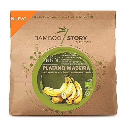 Plátano Isla da Madeira deshidratado rodajas bio BAMBOO STORY 100g