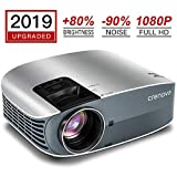 Crenova Full HD 1080P Video Projector, 2019 Upgraded 200' Home Portable Movie Projector...