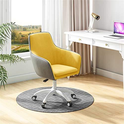 Silla de escritorio de terciopelo sillón de altura ajustable, silla de escritorio de dormitorio giratorio, silla de escritorio rosa, para oficina, oficina en casa, silla de escritorio para niños, gris