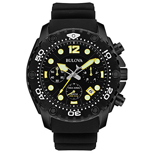 Bulova Men's 98B243 Sea King Analog Display Quartz Black...