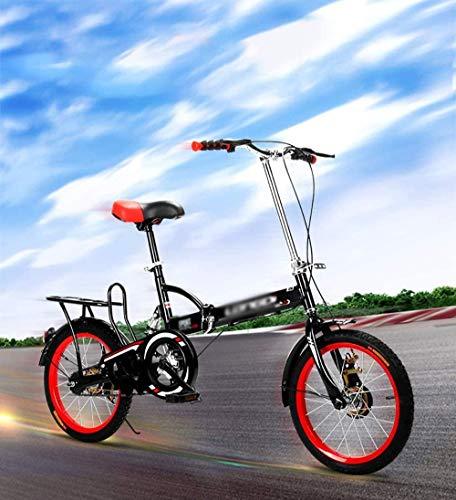 Mini bicicleta plegable para adultos Bicicleta plegable de acero al carbono de alto rendimiento, ligera, plegable de 20 pulgadas, plegable en 15 segundos, marco aerodinámico-A