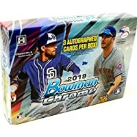 2019 Bowman Chrome HTA Choice MLB Baseball box (THREE Autograph cards)