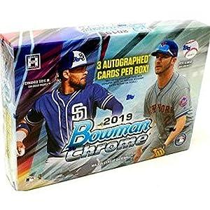 2019 Bowman Chrome HTA Choice MLB Baseball box (THREE Autograph cards)