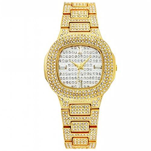 KLFJFD Reloj de Cuarzo Resistente al Agua con Placa Cuadrada pequeña y Diamantes de imitación creativos de Lujo para Mujer