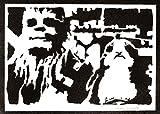 Póster Chewbacca y Porg STAR WARS Grafiti Hecho a Mano - Handmade Street Art - Artwork