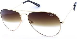 IDEE Gradient Aviator Unisex Sunglasses - (IDS2001C43SG|58|Brown Half Gradient Color Lens)