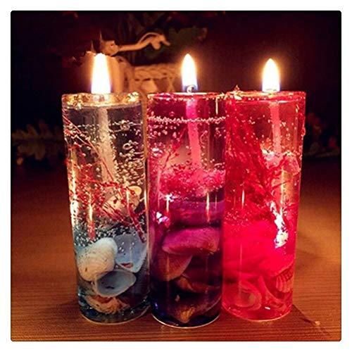 Aiglen 10 Uds Velas de aromaterapia sin Humo Conchas de mar de San Valentín Vela de gelatina perfumada decoración romántica Vela decoración del hogar Regalo (Size : 5pcs)