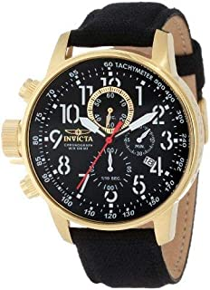 Invicta Men's 1515 I Force Collection 18k Gold Ion-Plated Stainless Steel and Black Cloth Watch
