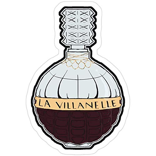 Vinyl Sticker For Cars, Trucks, Water Bottle, Fridge, Laptops La Villanelle Eau De Parfum Killing Eve Stickers (3 Pcs/Pack) 6222571284327