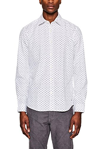 Esprit 018ee2f013 Camisa, Blanco (White 100), XX-Large para Hombre