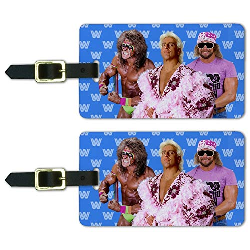 WWE Legends Luggage ID Tags Suitcase Carry-On Cards - Set of 2