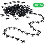 300 Pieces Fake Ants Prank Plastic Black Ant Bugs Joke Toys Realistic Insects for Halloween Party Favors Decoration Props