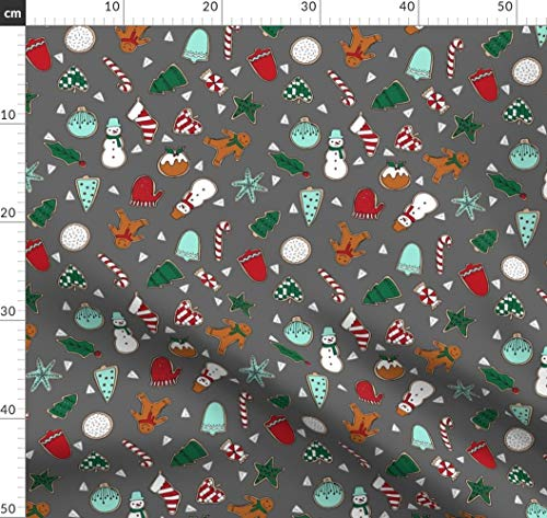 Weihnachten, Kekse, Backen, Weihnachtsstoff, Andrea Lauren Stoffe - Individuell Bedruckt von Spoonflower - Design von Andrea Lauren Gedruckt auf Bio Baumwoll Interlock-Jersey