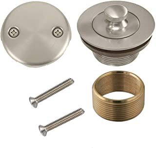 Brass Conversion Kit Bath Tub Drain Assembly Brushed Nickel
