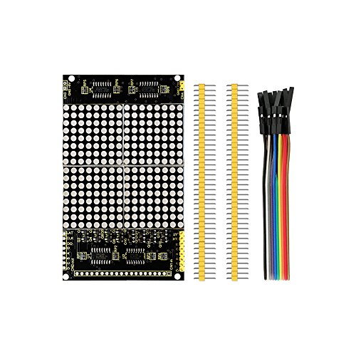 KEYESTUDIO Raspberry Pi 4 Módulo Matriz LED 16 x 16 cm Dot Matrix LED Módulo Matriz LED Rojo para Arduino Mega2560 R3 y Raspberry Pi Starter Kit 74HC595