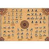 The Mindful Word Yoga Poster mit 62 Stellungen (91 x 61 cm)
