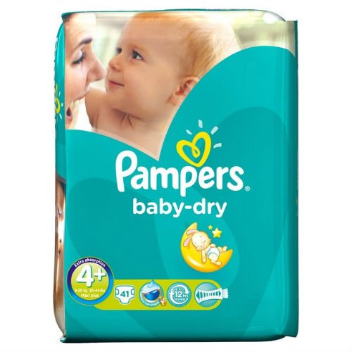 Pampers Baby Dry-Couches Taille 4+ Pack Essential 41
