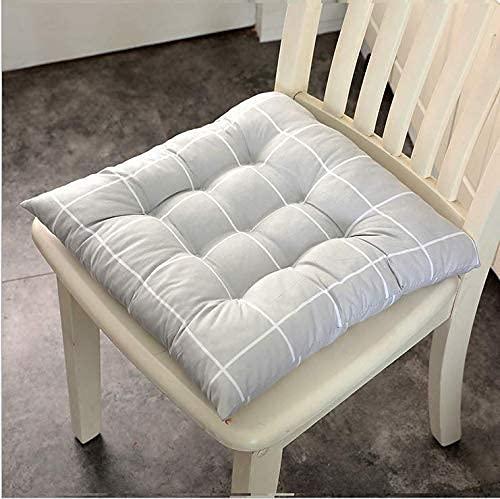 Cuscino per cuscino per sedia Set di 1/2/4/6 con lacci per sedia da pranzo Imbottiture per sedie Coprisedile per interni Imbottiture per sedili per sedie da esterno con per cucina da patio 4