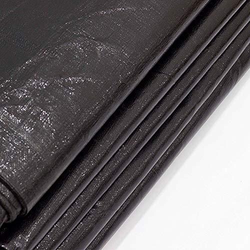 Heavy Duty Poly Tarps Black, Plastic Tarpaulin Sheet Waterproof, 13Mil Black Tarp for Construction, Ground Cover, Plastic Mulch, Lumber Tarp, Drop Cloth, Painters Plastic Tarpaulin,2x2m/6.5x6.5ft