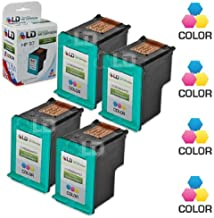 LD Remanufactured Ink Cartridge Replacements for HP 97 C9363WN (Color, 4-Pack)