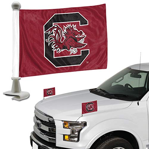 FANMATS ProMark NCAA South Carolina Fighting Gamecocks Flag Set 2-Piece Ambassador Style, Team Color, One Size