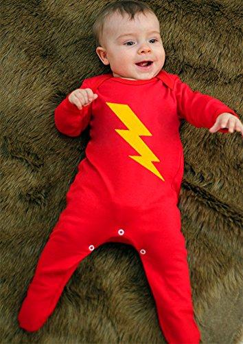Disfraz de superhéroe para niño bebé, Baby para niño/Flash Superhéroe bebé ropa para niños o niñas por bebé Moo rojo rosso Talla:3-6 meses