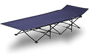 Foldable Camping and Trekking Bed in Canvas Bag - Navy / Black