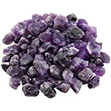 Rockcloud 1 lb Natural Crystals Raw Rough Stones for Cabbing,Tumbling,Cutting,Lapidary,Polishing,Reiki Crytsal Healing,Amethyst