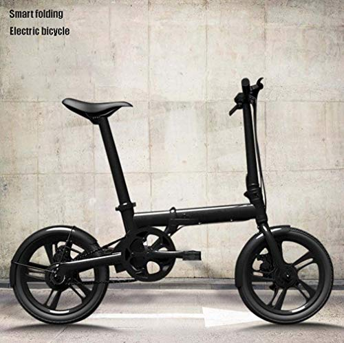Bicicleta eléctrica Plegable Inteligente de 16 Pulgadas, Bicicleta eléctrica con Marco de aleación Aluminio,batería extraíble de Iones de Litio LCD Display, Sistema de Crucero ACS