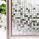 LMKJ Película de Revestimiento de Ventanas para el hogar Adhesivo de Vidrio de privacidad de Ventana estática 3D sin Adhesivo, película de Vidrio de Oficina A139 45x100cm
