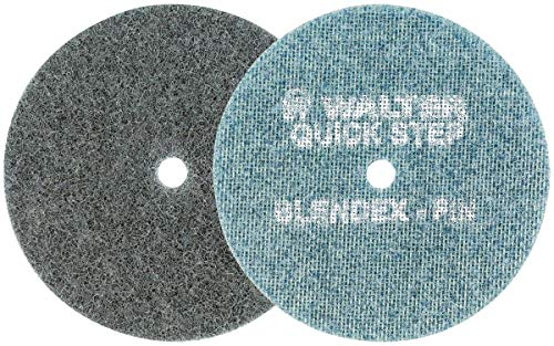 Walter Blendex Surface Conditioning Disc - (Pack of 10) Non Woven, Fine Gritted, Blue Abrasive Disc. Sanding Grit Discs