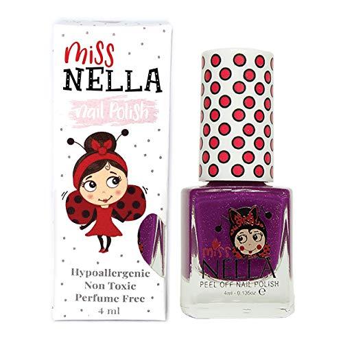 Miss Nella JAZZBERRY JAM- Spezieller Nagellack mit Glitzer für Kinder, Peel-Off-Formel,...