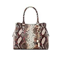 Adjustable Strap: This satchel bag comes with an adjustable strap for more carrying options. Wear it your way and adjust its buckle on to suit your height. Decorative Chain Embelishment: A removable lightweight gold keychain adds a luxurious touch to...