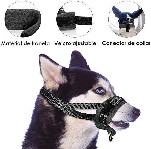 NoyoKere Mordedura Anti de la Corteza Anti del bozal Respirable de la Malla Ajustable para el Perro peque/ño y Grande