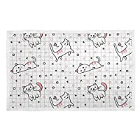 (La Rose) ブランケット ペットマット アニメ 猫柄 チャック ペット用 毛布 布団 猫犬 タオル ユニーク